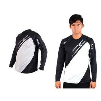 【MIZUNO】男網球長袖T恤-運動T恤 美津濃 NXT系列 黑銀