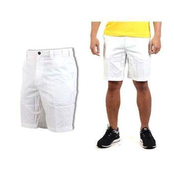 【MIZUNO】男休閒短褲-平織 工作褲  白