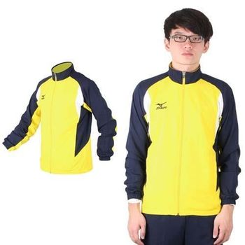 【MIZUNO】男平織運動外套 - 路跑 慢跑 立領運動外套 美津濃 黃丈青
