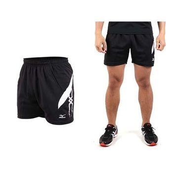 【MIZUNO】男運動短褲-慢跑 網球 桌球 美津濃  黑白