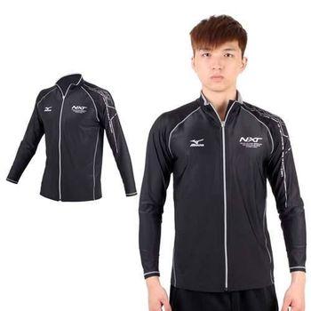 【MIZUNO】SWIM NXT 男外套泳衣- 泳衣 美津濃 黑銀