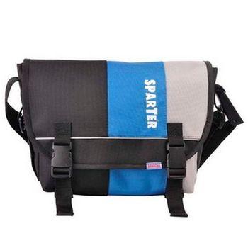 【SPARTER】SP-9708 BK 潮流10吋平板側背包(藍黑).