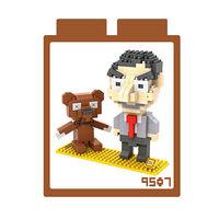 LOZ 鑽石積木 ~卡通系列~9507 ^#45 豆豆先生 益智玩具 趣味 腦力激盪