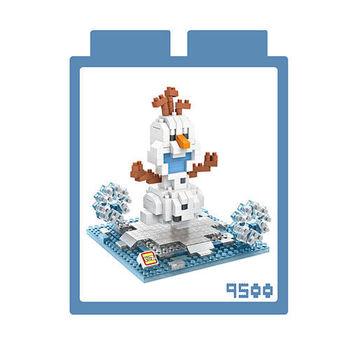 LOZ 鑽石積木 【可愛卡通系列】9500-雪寶 益智玩具 趣味 腦力激盪