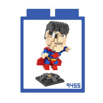 LOZ 鑽石積木 【超級英雄系列】9455-超人 益智玩具 趣味 腦力激盪