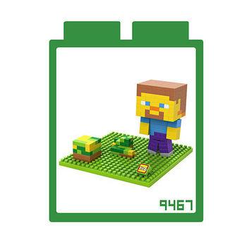 LOZ 鑽石積木 【當個創世神系列】9467-草原史帝夫 益智玩具 趣味 腦力激盪