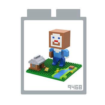 LOZ 鑽石積木 【當個創世神系列】9468-房屋史帝夫 益智玩具 趣味 腦力激盪
