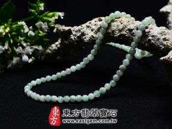 【東方翡翠寶石】葡萄石天然珠串項鍊(些微透光,珠徑約4mm)MPO005