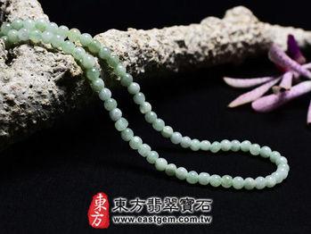 【東方翡翠寶石】葡萄石天然念珠項鍊(些微透光,珠徑約4mm)MPO006