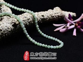 【東方翡翠寶石】葡萄石天然珠串項鍊(些微透光,珠徑約4mm)MPO007