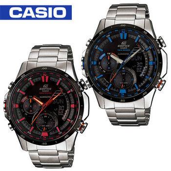【CASIO 卡西歐 EDIFICE 系列】雙顯造型設計飛行男錶(ERA-300DB)