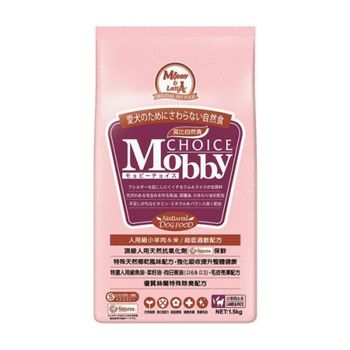 【Mobby】莫比 小型幼母犬 羊肉米 自然食飼料 1.5公斤 X 1包