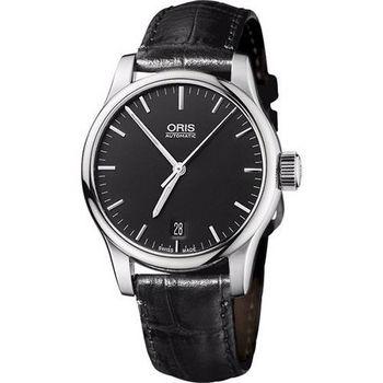 ORIS Classic 經典三針機械腕錶-黑  0173375784054-0751811