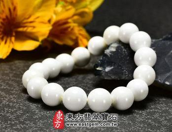 【東方翡翠寶石】白硨磲天然玉石珠串手環 (白色,珠徑約10.5mm)WCG010