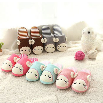 【Moscova】可愛睡眠羊軟底室內棉拖鞋(情侶款)