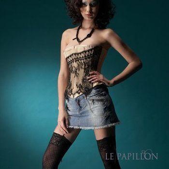【 LE PAPILLON 】法式睫毛蕾絲鑽石馬甲