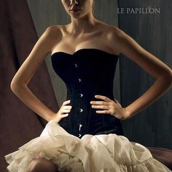 【LE PAPILLON】公主腰煙管絨布馬甲