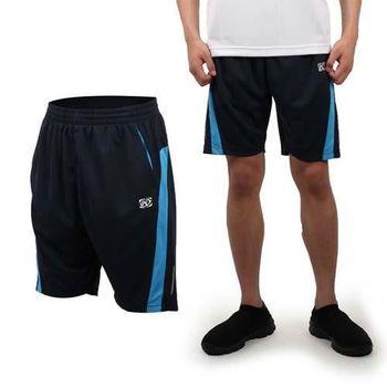 【FIRESTAR】男休閒短褲-運動短褲 慢跑 路跑 籃球褲 丈青水藍