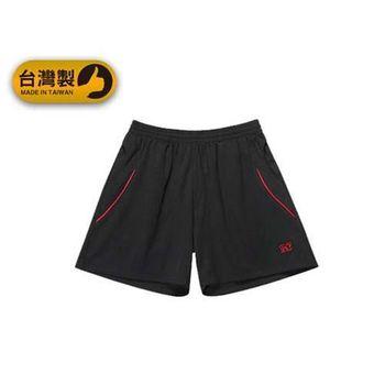 【FIRESTAR】男運動短褲-台灣製 慢跑 路跑 運動短褲  黑紅