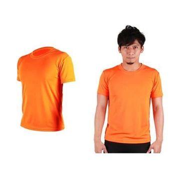 【HODARLA】FLARE 100 男女吸濕排汗衫 短袖T恤 台灣製  橘