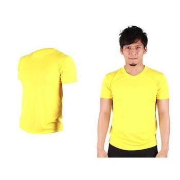 【HODARLA】FLARE 100 男女吸濕排汗衫 短袖T恤 台灣製  亮黃
