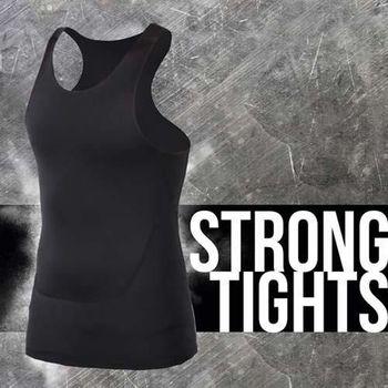 【INSTAR】PRO 男緊身背心 台灣製 慢跑 路跑 健身 重訓 無袖緊身衣 黑