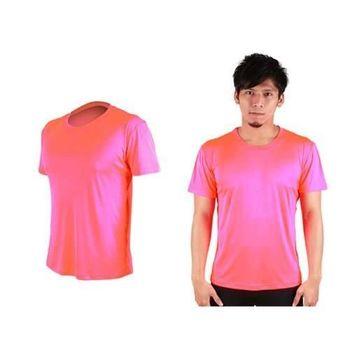 【HODARLA】FLARE 300 男女排汗衫 短袖T恤 涼感 台灣製  螢光粉