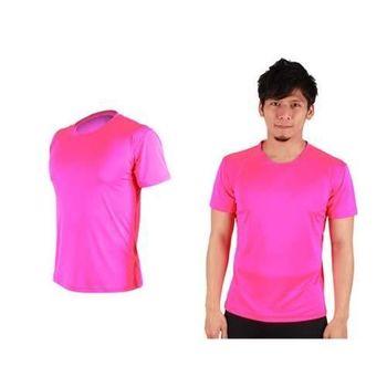 【HODARLA】FLARE 300 男女排汗衫 短袖T恤 涼感 台灣製  亮桃紅