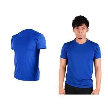 【HODARLA】FLARE 100 男女吸濕排汗衫 短袖T恤 台灣製  國旗藍
