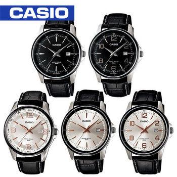 【CASIO 卡西歐】送禮首選- 大錶面紳士皮革型男錶(MTP-1344AL / MTP-1345AL)