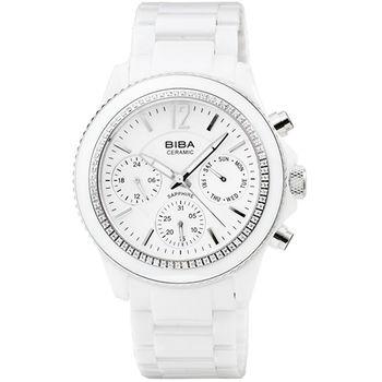 BIBA 碧寶錶陶瓷石英女錶-白 / B75WC041W (原廠公司貨)