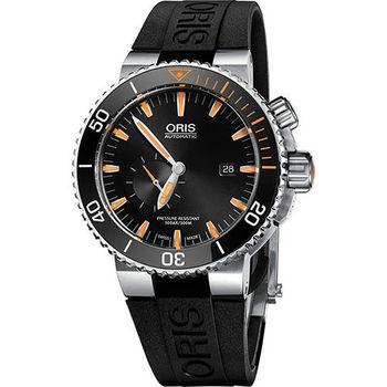 Oris Carlos Coste 專業500米潛水限量錶-橘時標x黑/46mm 0174377097184-SetRS
