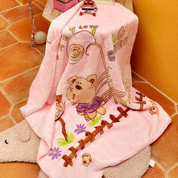 義大利Fancy Belle《幸福寶貝熊》雙層雪芙絨兒童毯100*110CM