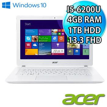 ACER 宏碁 V3-372-55KU 13吋FHD i5-6200U 1TB 新款輕薄筆電 純淨白