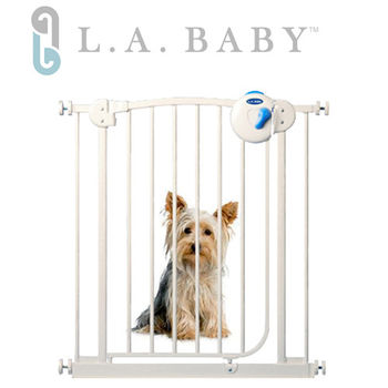 【L.A. Baby】雙向自動上鎖安全鐵門欄(三道安全鎖裝置)