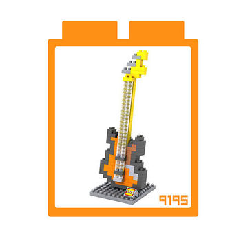 LOZ 鑽石積木 【樂器系列】9195-貝斯 益智玩具 趣味 腦力激盪