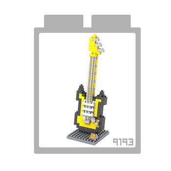 LOZ 鑽石積木 【樂器系列】9193-黃電吉他 益智玩具 趣味 腦力激盪
