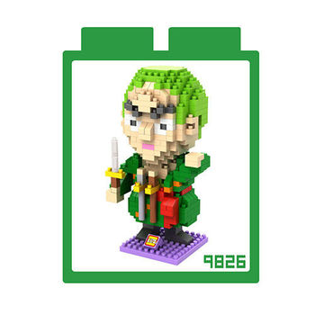LOZ 鑽石積木 【戰鬥卡通系列】9826-索隆 益智玩具 趣味 腦力激盪