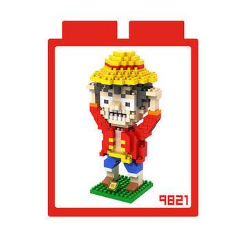 LOZ 鑽石積木 【戰鬥卡通系列】9821-魯夫 益智玩具 趣味 腦力激盪