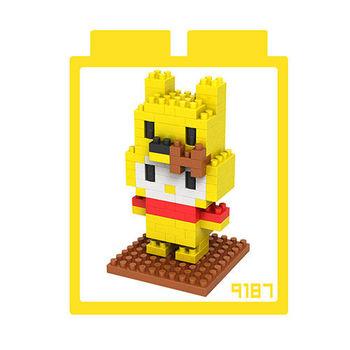 LOZ 鑽石積木 【kitty卡通裝系列】9187-小熊維尼裝 益智玩具 趣味 腦力激盪