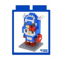 LOZ 鑽石積木 ~kitty卡通裝系列~9186 ^#45 美國隊長裝 益智玩具 趣味