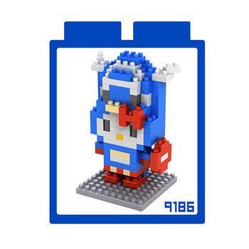 LOZ 鑽石積木 【kitty卡通裝系列】9186-美國隊長裝 益智玩具 趣味 腦力激盪