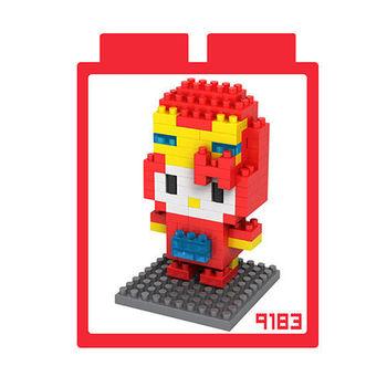 LOZ 鑽石積木 【kitty卡通裝系列】9183-鋼鐵人裝 益智玩具 趣味 腦力激盪
