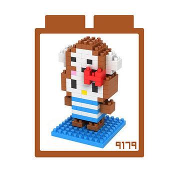 LOZ 鑽石積木 【kitty卡通裝系列】9179-猴子裝 益智玩具 趣味 腦力激盪