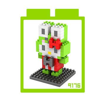 LOZ 鑽石積木 【kitty卡通裝系列】9176-青蛙王子裝 益智玩具 趣味 腦力激盪