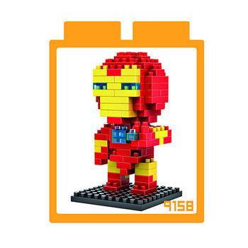 LOZ 鑽石積木 【英雄系列】9158-鋼鐵人 益智玩具 趣味 腦力激盪