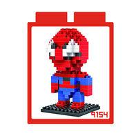 LOZ 鑽石積木 ~英雄系列~9154 ^#45 蜘蛛人 益智玩具 趣味 腦力激盪