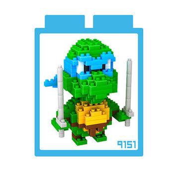 LOZ 鑽石積木 【烏龜系列】9151-李奧納多 益智玩具 趣味 腦力激盪