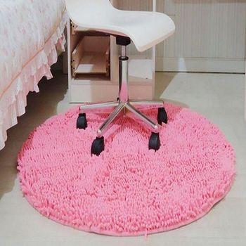 圓形超纖雪尼爾地毯地墊門墊電腦椅防滑墊腳墊床邊地毯