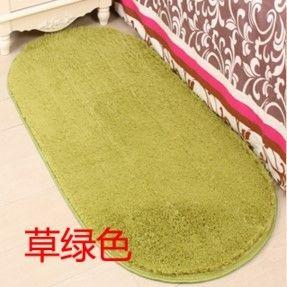 橢圓形加厚絲毛地毯臥室床邊客廳茶几地毯